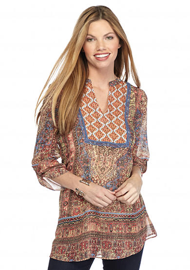 New Directions® Twin Print Blouse