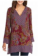 New Directions® Border Printed Tunic