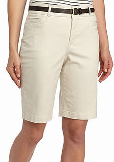 Gloria Vanderbilt Charlene Belted City Shorts