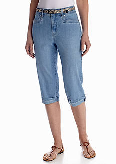 Gloria Vanderbilt Marine Belt Skimmer Denim
