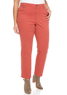 Gloria Vanderbilt Plus Size Amanda Fashion Short Colored Denim Pant
