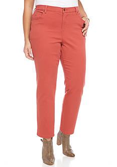 Gloria Vanderbilt Plus Size Amanda Fashion Short Colored Denim Pant