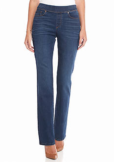 Gloria Vanderbilt Avery Pull-On Straight Leg Jean Pant
