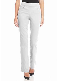 Gloria Vanderbilt Avery Pull-On Straight Leg Twill Pants