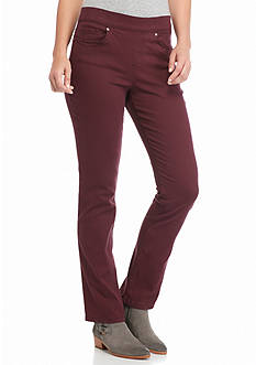 Gloria Vanderbilt Avery Pull-On Straight Leg Twill Pant