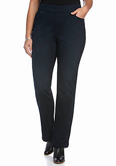 Gloria Vanderbilt Plus Size Avery Pull-On Straight Pants