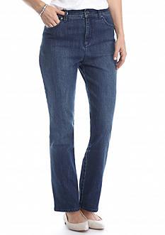 Gloria Vanderbilt Petite Amanda Embellished Denim Wash Jeans