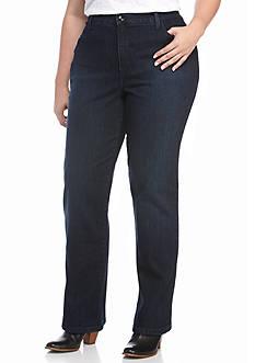 Gloria Vanderbilt Plus Size Amanda Dazzle Embellished Jeans (Average)