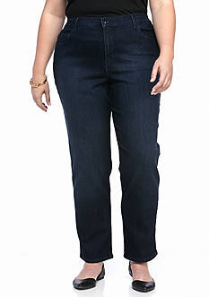Gloria Vanderbilt Plus Size Amanda Dazzle Short Denim Pants