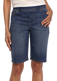 Gloria Vanderbilt Pull On Denim Bermuda Shorts