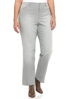 Gloria Vanderbilt Plus Size Amanda Ticking Stripe Pant