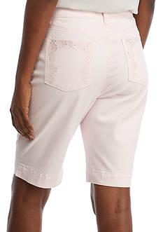 Gloria Vanderbilt Amanda Embroidered Bermuda Short
