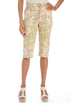 Gloria Vanderbilt Petite Amanda Skimmer Floral Printed Shorts
