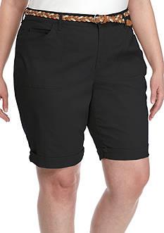 Gloria Vanderbilt Plus Size Rachel Bermuda Short