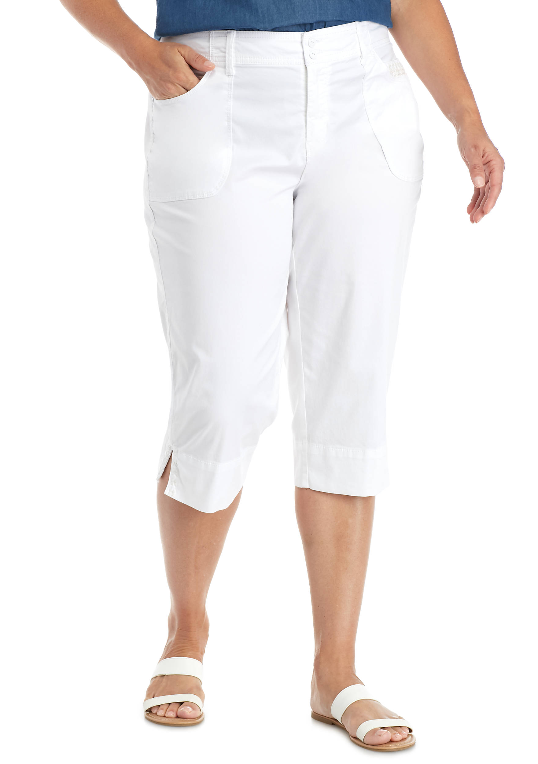 Gloria Vanderbilt Plus Size Alicia Capri Short | belk