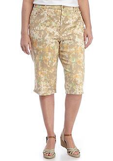 Gloria Vanderbilt Plus Size Amanda Skimmer Print Capri