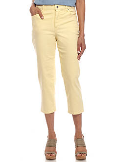 Gloria Vanderbilt Amanda Capri Twill Shorts