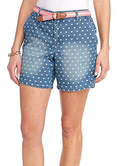 Gloria Vanderbilt Yvonne Dot Printed Short