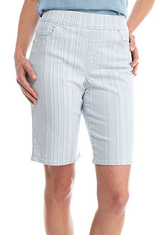 Gloria Vanderbilt Avery Bermuda Stripe Shorts