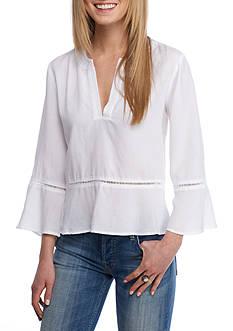 Cloth & Stone Peplum Pullover Blouse