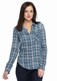 Cloth & Stone Plaid Button Down Shirt