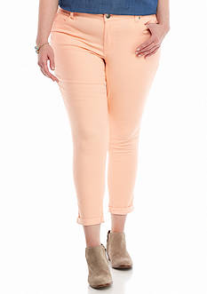 Red Camel® Plus Size Cuffed Skinny Ankle Jean