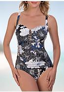 Shapesolver Chelsea Floral Beaded One Piece