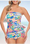 Shapesolver Summer Fest Bandeau Sarong One Piece