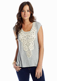 Red Camel® Crochet Front Top
