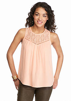 Red Camel® Woven Tank with Crisscross Back