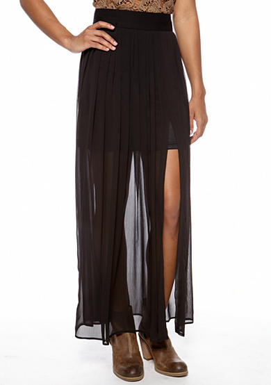 Stoosh Back Zip Maxi Skirt