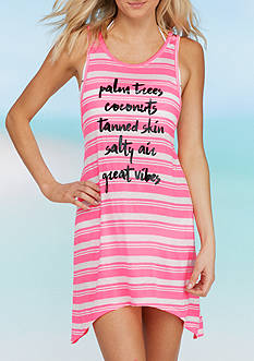 Miken Printed X-Back Swim Cover Up