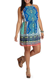 Lily White Plus Size Short Casual Summer Dress
