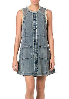 Miss Me Frayed Edge Jean Dress