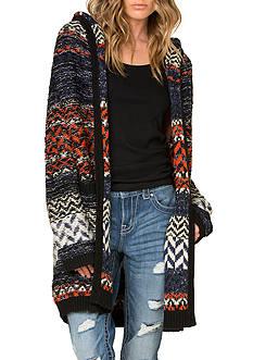 Miss Me Multicolor Hooded Long Cardigan