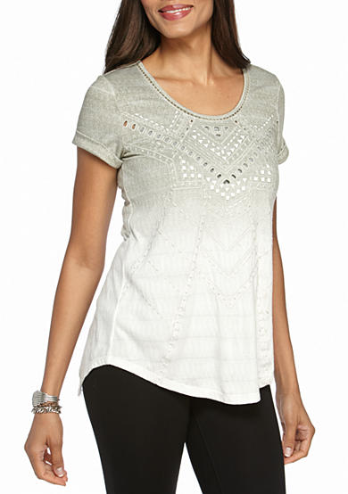 Miss Me Ombre Embellished Top
