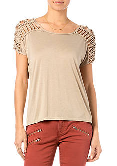 Miss Me Fringe Yoke Knit Top