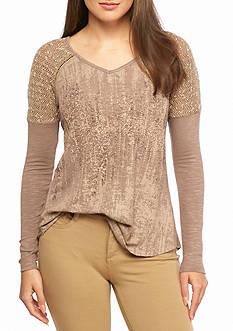 Miss Me Shoulder Detail Knit Top