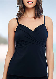Eco Swim Solids Twist Front Underwire Tankini