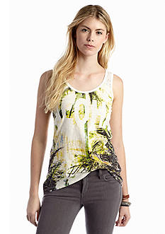 Chip & Pepper® CALIFORNIA 'Aloha' Graphic Print Lace Back Top
