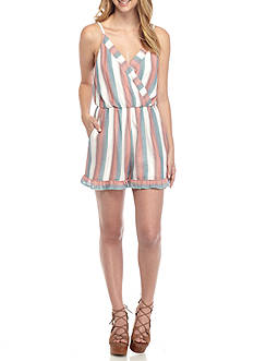 Red Camel Striped Romper
