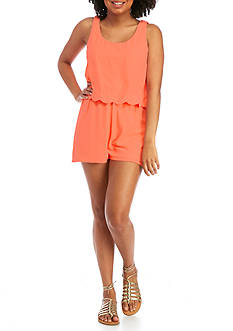 Red Camel® Scalloped Popover Romper