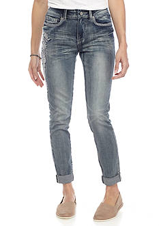 Indigo Rein Embroidered Skinny Jeans