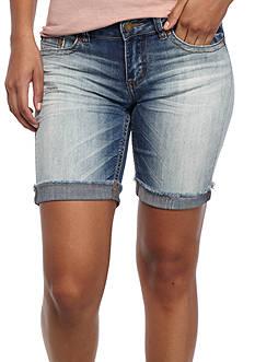 Indigo Rein Slight Tint Bermuda Shorts