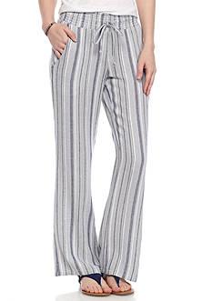 Indigo Rein Tie Waist Linen Pants