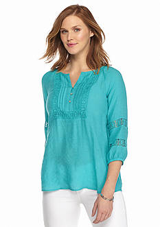 Spense Crochet Accent Blouse