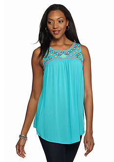 Melissa Paige Embroidered Sleeveless Top