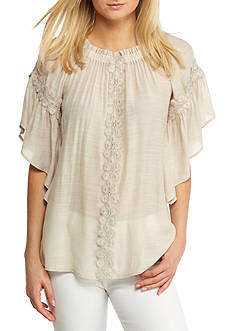 Spense Elastic Neck Trim Top