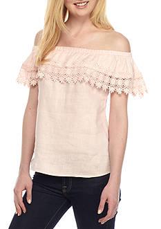 Melissa Paige Off The Shoulder Crochet Top