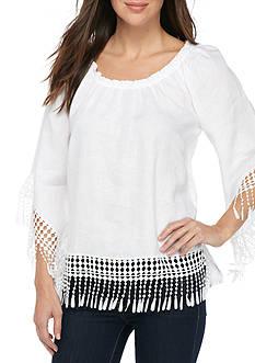 Melissa Paige Flutter Sleeve Top